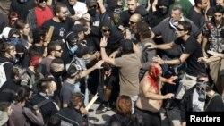 Демонстрации в Греции.