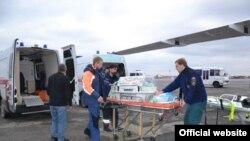 Симферополь - самолет российского МЧС с тяжелобольными детьми. Архивное фото