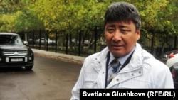Құқық қорғаушы Талас Сағымбаев. Астана, 23 қыркүйек 2011 жыл.