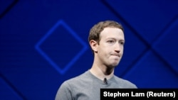 U.S. -- Facebook Founder and CEO Mark Zuckerberg speaks on stage during the annual Facebook F8 developers conference in San Jose, California, April 18, 2017