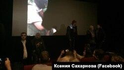 """Активисты SERB срывают показ фильма """"Полет пули"""""""