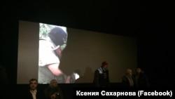 """Активисты SERB срывают показ фильма """"Полет пули"""", 10 декабря 2017"""
