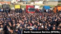 Протестующие водители в Дагестане, 28 апреля 2017