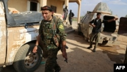 Kurdish fighters seized the Syrian town of Manbij from IS militants two weeks ago. (file photo)