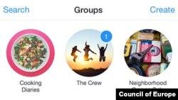 """iOS və Android cihazları üçün """"Qruplar"""" proqramı"""