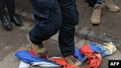Акция в поддержку Савченко около генконсульства РФ во Львове