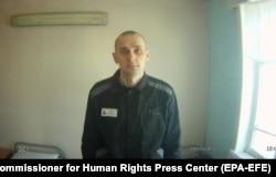 Олег Сенцов в колонии. Фото, как утверждает ФСИН, сделано 9 августа 2018 года, на 88-й день голодовки режиссера