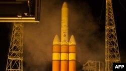 Delta IV зымыранының ғарышқа ұшырылу сәті. Көрнекі сурет.