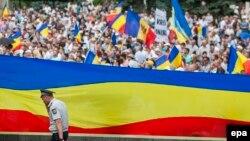 Manifestație unionistă la Chișinău