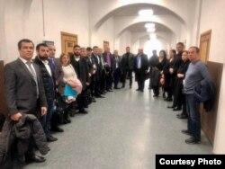 Адвокаты, которые пришли поддержать Хасавова
