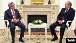 Ռուսաստանի նախագահ Վլադիմիր Պուտինի եւ Հայաստանի նախագահ Սերժ Սարգսյանի հանդիպումը Մոսկվայում, 8-ը օգոստոսի, 2012թ.