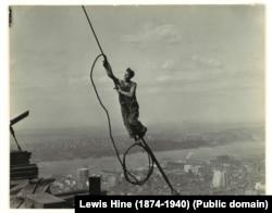 Икарус. Эмпайр-Стейт-Билдинг. 1930. Фото Lewis Hine
