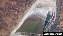 عکس ماهواره ای ناسا از ناحیه ساخت نیروگاه انرژی خورشیدی در هند