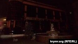 Центр Сімферополя під час відключення світла