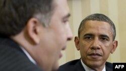 Встреча президентов Обама и Саакашвили в Вашингтоне