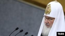 Поглаварот на Руската православна црква, патријархот Кирил.