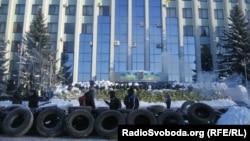 Барикади біля Рівненської ОДА, 24 січня 2014 року