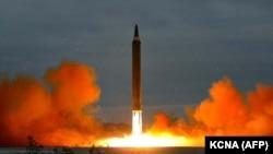 North Korea's intermediate-range strategic ballistic rocket Hwasong-12