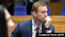 Aleksei Navalnîi la o audiere CEDO la Strasbourg, 15 noiembrie 2018