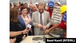 وزير الثقافة سعدون الدليمي يضع حجر الساس لمشروع دار الأوبرا في بغداد