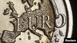 Еуро валютасы бетіндегі еуропа картасы. 3 желтоқсан 2011 жыл.
