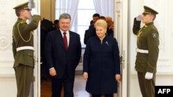 Петро Порошенко і Даля Ґрібаускайте