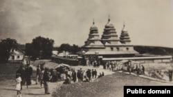 Свято-Іванівська лавра (нині музей архітектури і побуту), церква із села Кривки. Львів, 1930-ті роки