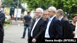 Predsednici Hrvatske i Srbije, Ivo Josipović i Boris Tadić u šetnji Beogradom, jul 2010.