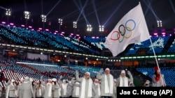 Cənubi Koreya, Rusiya idmançıları, 9 fevral 2018