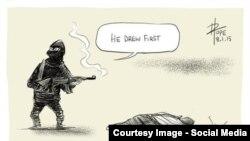 ردود فعل رسامي الكاريكاتير في العالم على الهجوم على اسبوعية سارلي ابدو الفرنسية