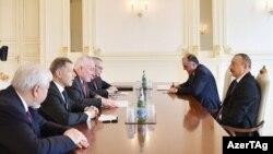 Ilham İlham Əliyevin ATƏT-in Minsk qrupunun həmsədrləri ilə görüşü, Bakı, 11 mart 2017