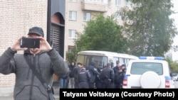 Полиция на месте проведения акции в Петербурге