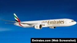 Boeing 777-200LR в раскраске Emirates