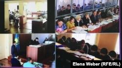 Трансляция с камер во время суда по делу об убийстве в ресторане «Древний Рим». Караганда, 8 октября 2019 года.