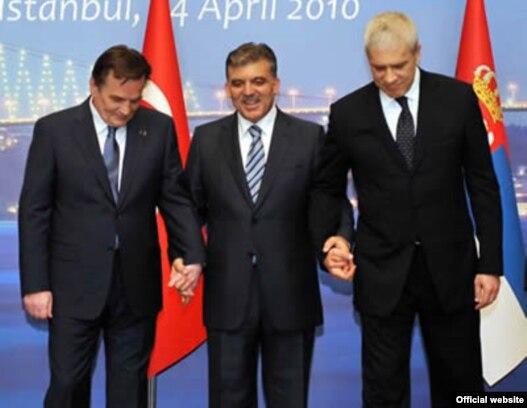 Haris Silajdžić, Abdulah Gul i Boris Tadić u Istanbulu