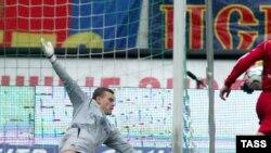 У голкипера армейцев Игоря Акинфеева работы в матче было не очень много
