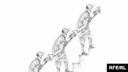 """Михаил Златковский - """"И дать, и взять"""". Художник впечатлен размерами отечественного коррупционного рынка."""
