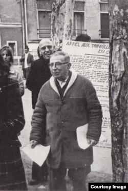 Jean-Paul Sartre və Michel Foucault 1968-ci il Fransa tələbə hərəkatı zamanı.