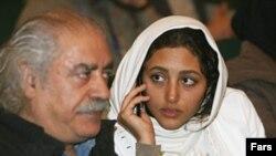 گلشیفته فراهانی به همراه پدرش. عکس از خبرگزاری فارس