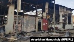 Поселок Масанчи после беспорядков. 8 февраля 2020 года, Жамбылская область.