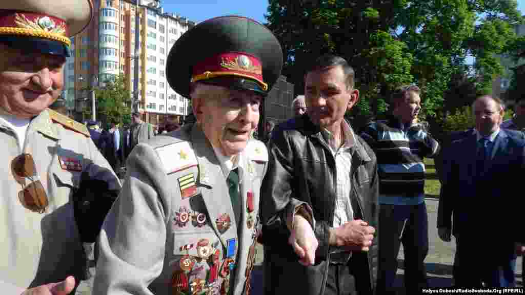Veterans mark Victory Day in Ivano-Frankivsk, Ukraine.