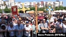 Protest u Podgorici protiv Zakona o slobodi veroispovesti u Crnoj Gori, 15. jun 2019.