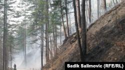 Požar u okolini Srebrenice, 22. avgust 2012.
