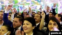 """2016 - yilgi prezidentlik saylovida """"O'zLiDeP"""" Shavkat Mirziyoyev nomzodini ilgari surgandi."""
