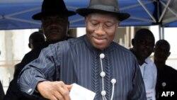 Претседателот на Нигерија Гудлак Џонатан.