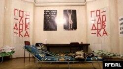 Если в ближайшие дни первый этаж здания Московского Дома скульпторов не будет освобожден, голодовка может быть возобновлена