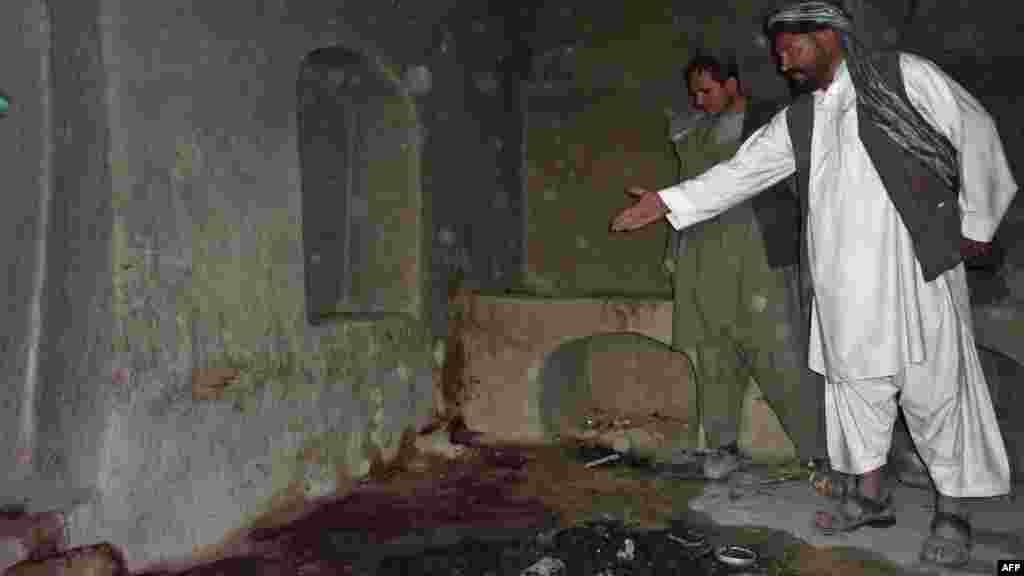 Место инцидента в Кандагаре.