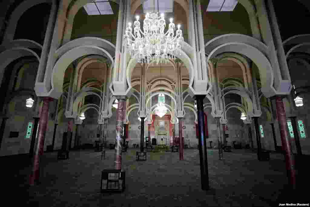 Madrid's main mosque was empty on the eve of Ramadan on April 23 amid Spain's coronavirus lockdown.