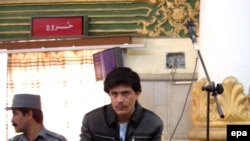 Sayed Perwiz Kambakhsh, seen here at a Kabul hearing in October, was a student and part-time journalist at the time of his detention 17 months ago.