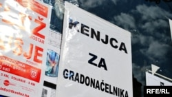 Plakat na lokalnim mostarskim izborima